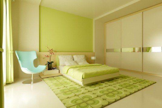 Спальня зеленого цвета фото