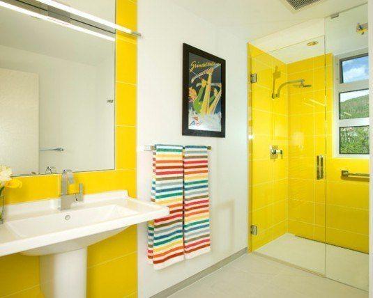 Ванная желтого цвета