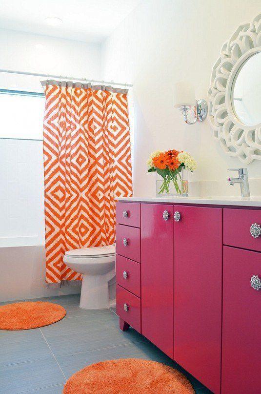 Розовый цвет ванны