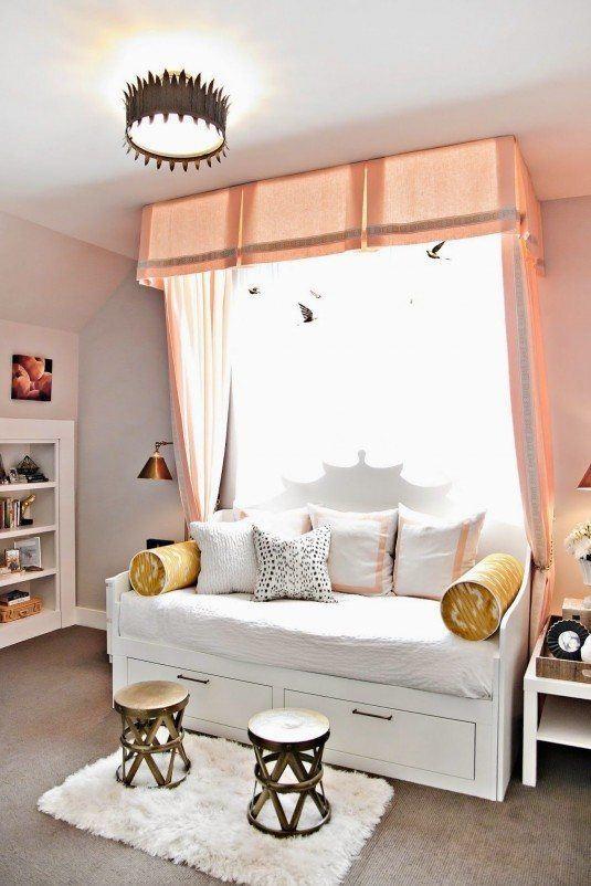 односпальная кровать с балдахином