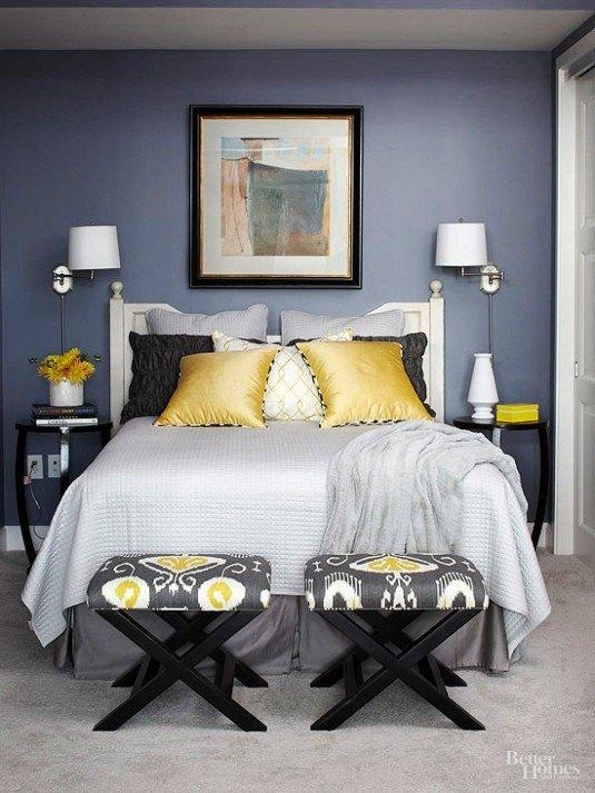 как украсить пространство над кроватью