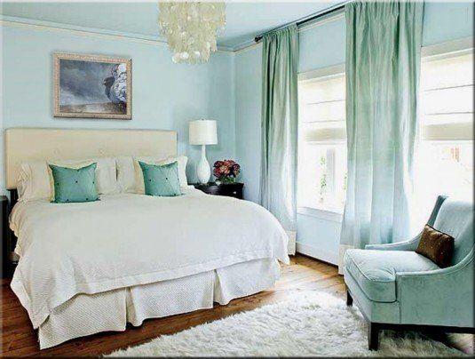 шторы в спальню зеленого цвета фото
