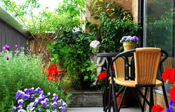сад огород балконе