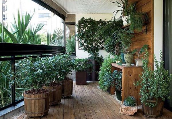 японский сад балконе