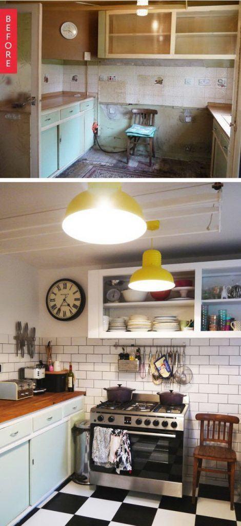 маленькая кухня после ремонта