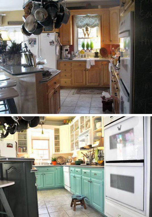 Старая классическая деревянная кухня