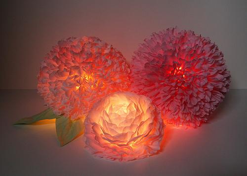 Бумажные лампы