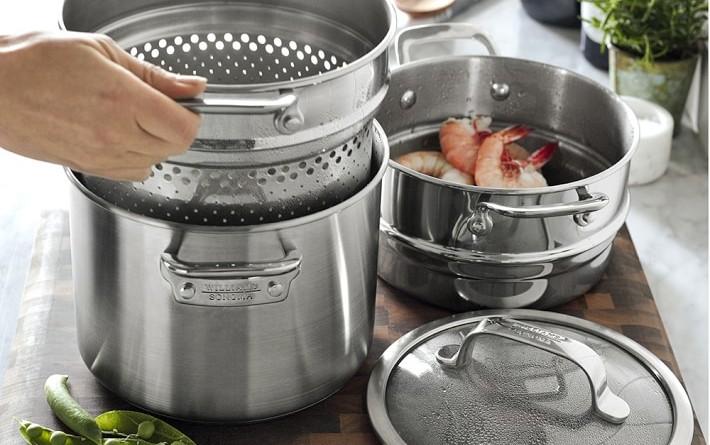 набор кухонной посуды из нержавеющей стали