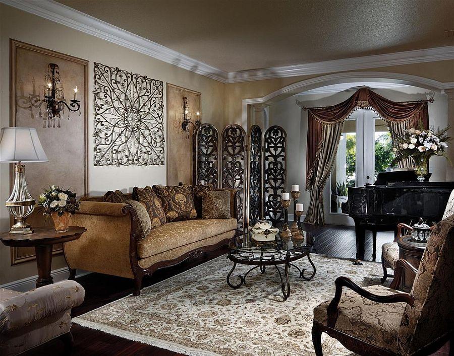 интерьер гостиной в викторианском стиле
