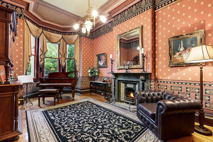 дизайн гостинной в викторианском стиле