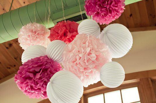 Подвесные бумажные фонарики