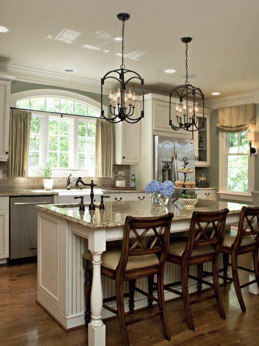 освещение потолка кухни фото