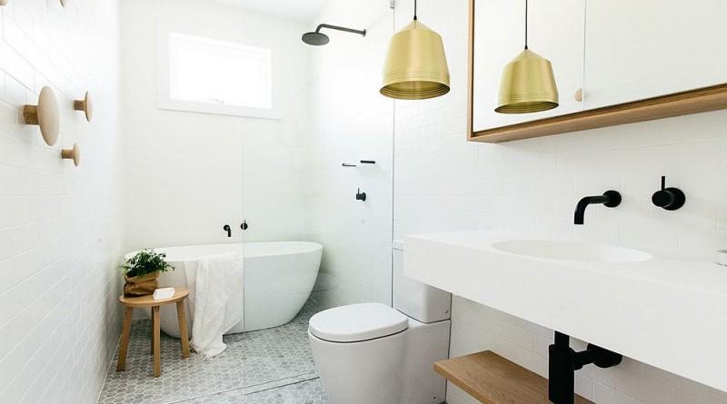 интерьер ванной комнаты в скандинавском стиле фото