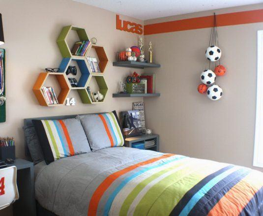декор стен в детской комнате для мальчика