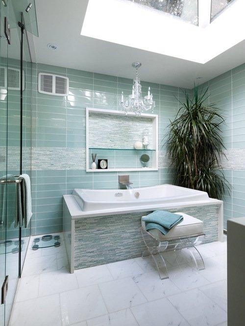 стеклянная плитка для ванной комнаты