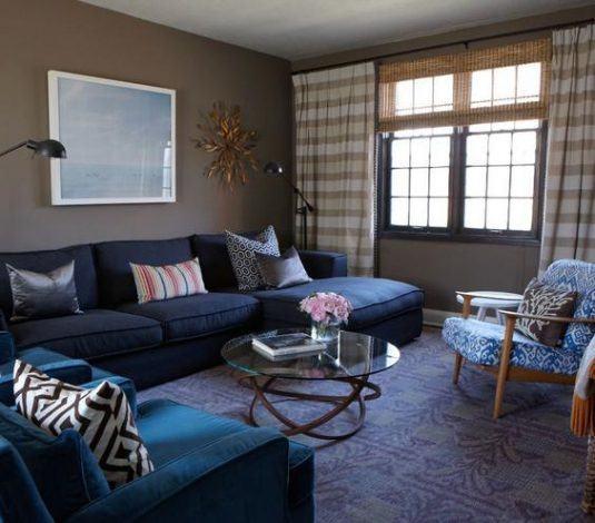 дизайн комнаты в синем цвете фото