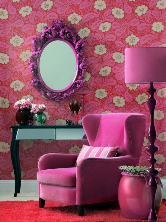 дизайн комнаты в розовом цвете фото