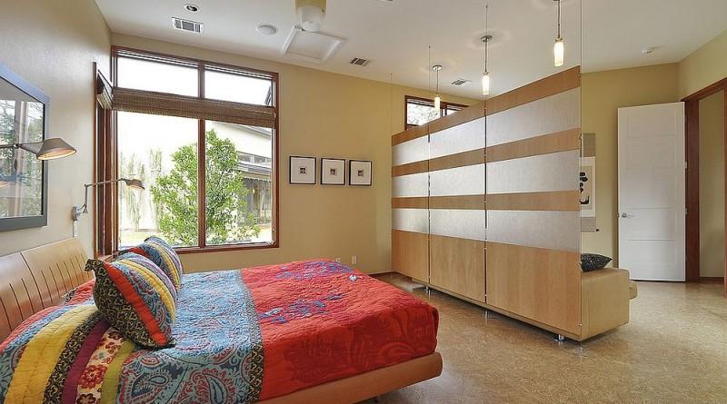 перегородка в гостинной спальни