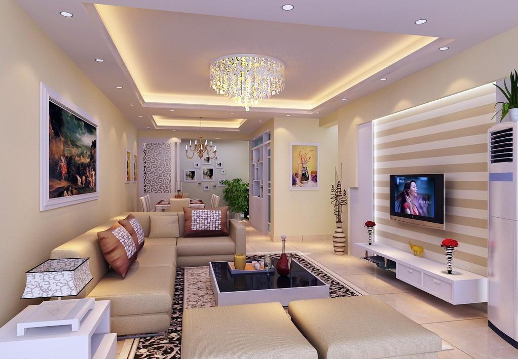 потолки в гостиной из гипсокартона фото
