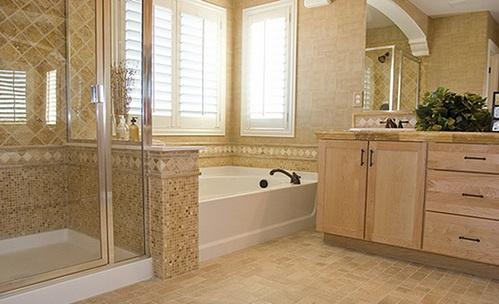 дизайн ванной комнаты плиткой,
