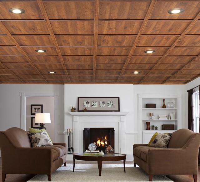 подвесные потолки в гостиной фото