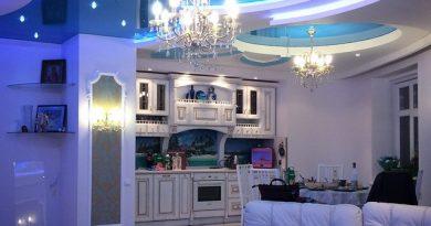 потолок на кухне фото