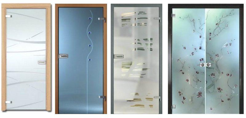 стеклянные двери для дома и офиса
