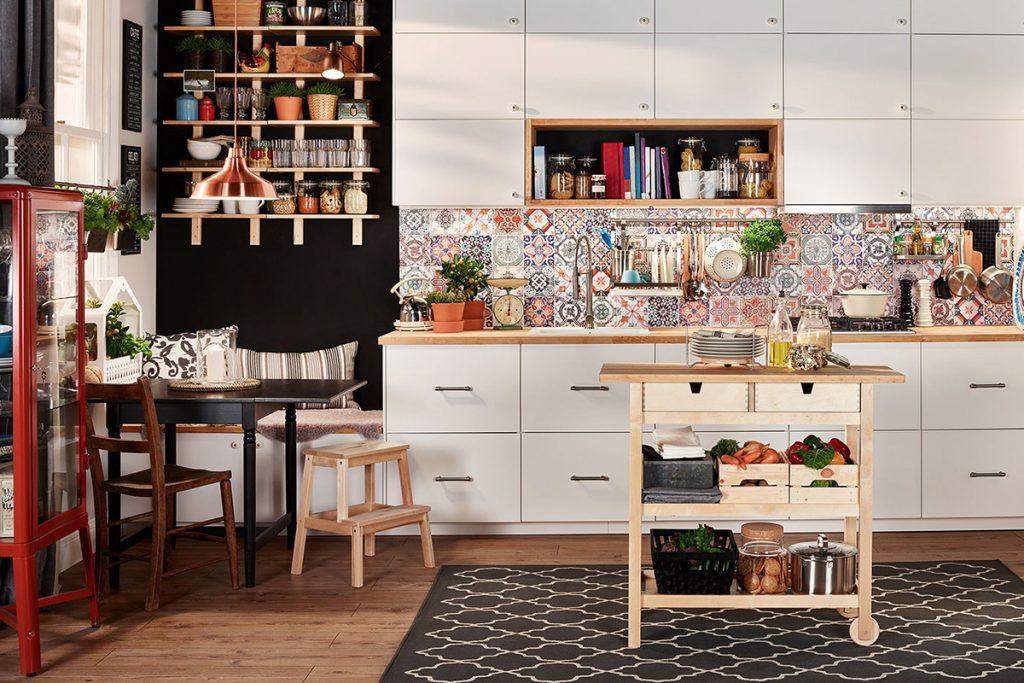 стиль бохо в інтер'єрі кухні