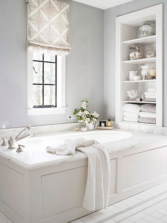 стиль шебби шик в интерьере ванной фото