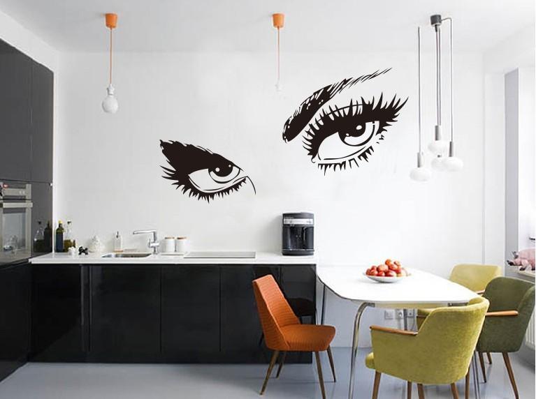 малюнок на стіні в кухні фото