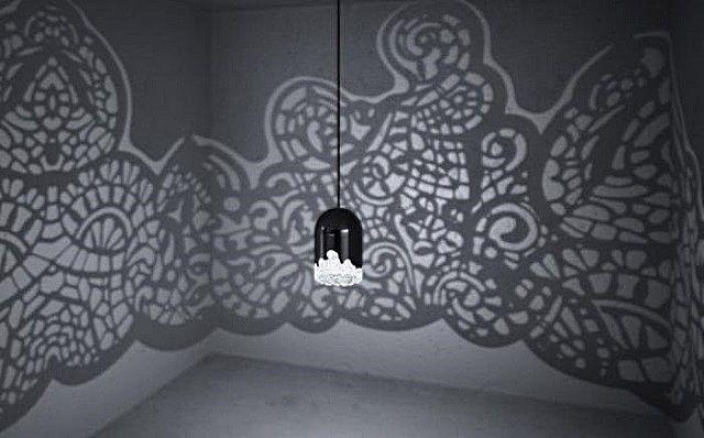 роспись стены по тени