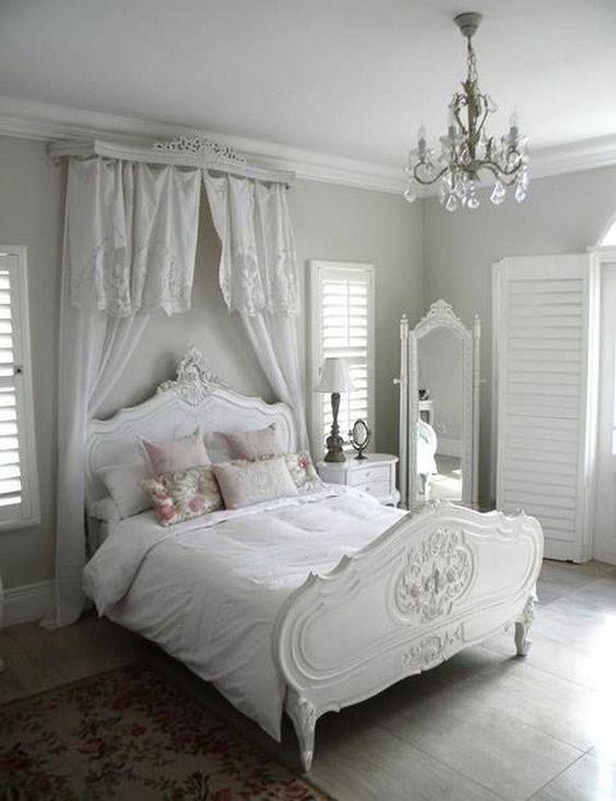 интерьер спальни в стиле шебби шик фото