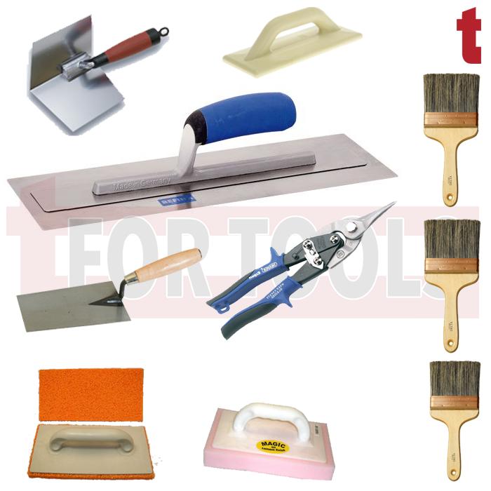 інструменти для шпаклівки стін