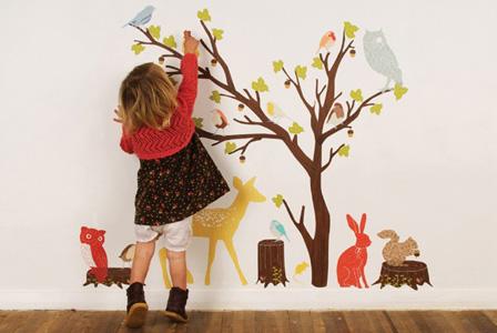 малюнки в дитячій на стіні фото