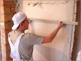 шпаклівка стін по маяках