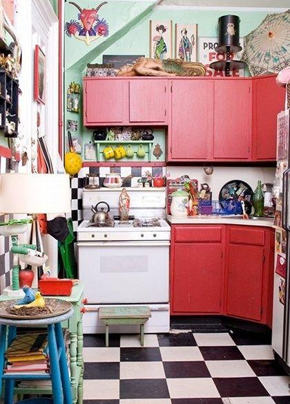 интерьер кухни в стиле китч фото
