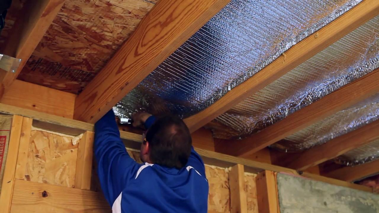 как утеплить потолок фольгой