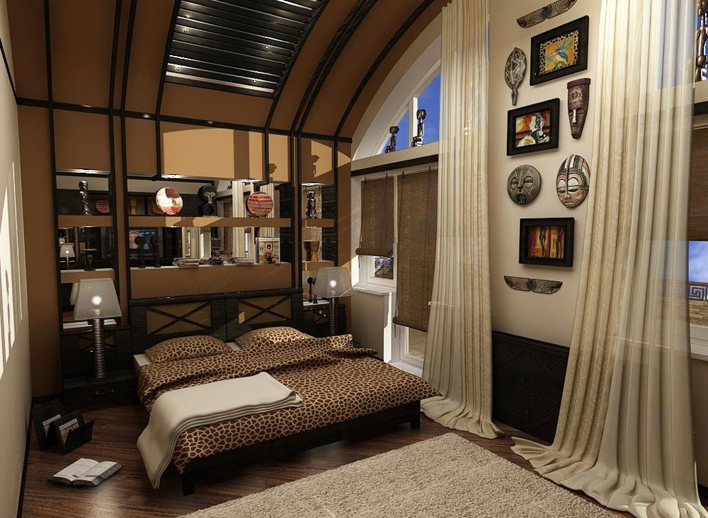 квартира в африканском стиле фото