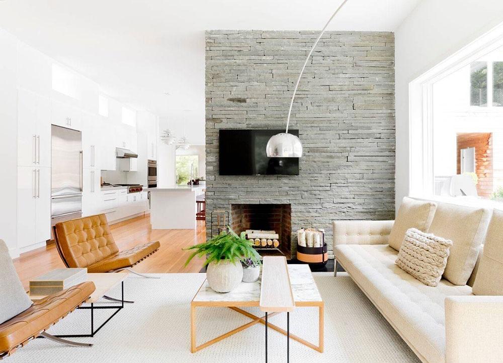 интерьер гостинной в стиле модерн фото