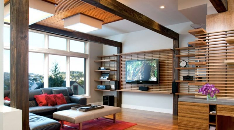 интерьер гостинной в японском стиле фото
