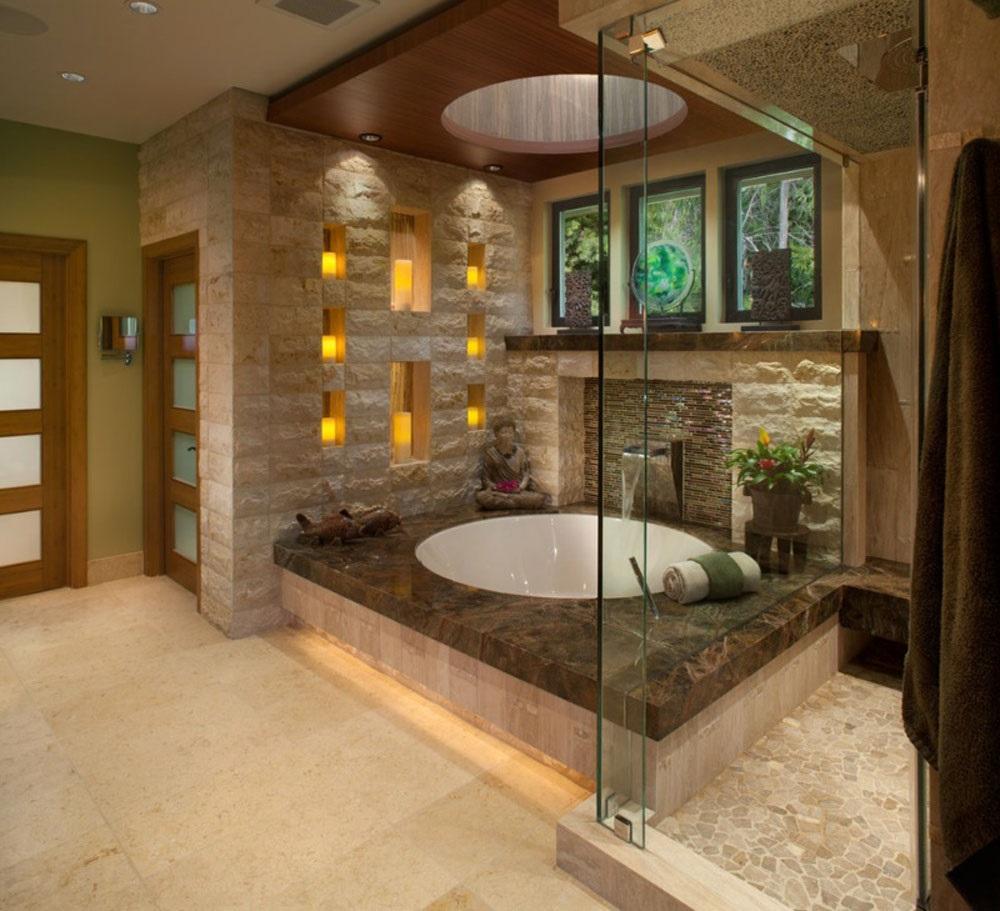 дизайн ванной комнаты в японском стиле фото