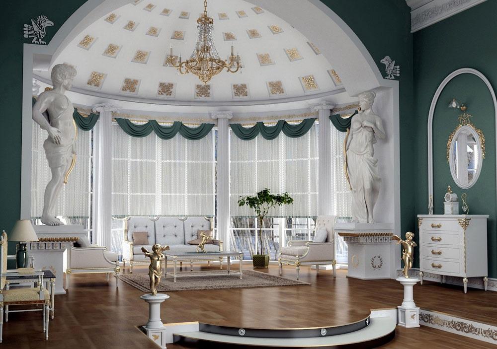 интерьер гостинной в викторианском стиле фото