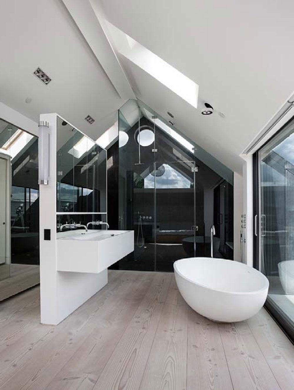 интерьер ванной комнаты в стиле модерн фото