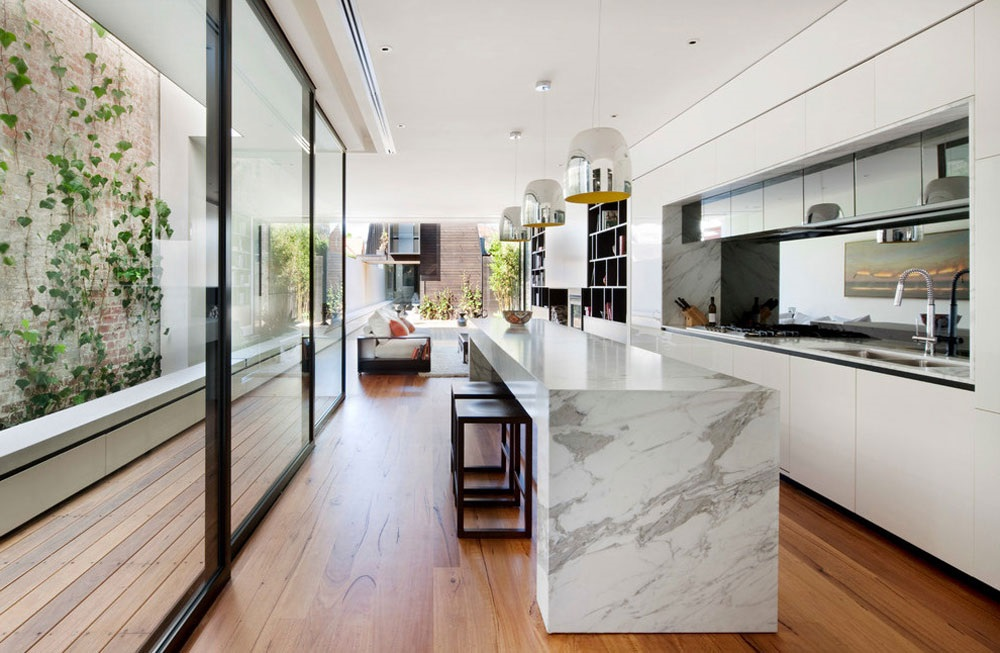 интерьер кухни в стиле модерн фото