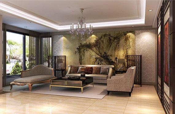 интерьер гостинной в китайском стиле фото