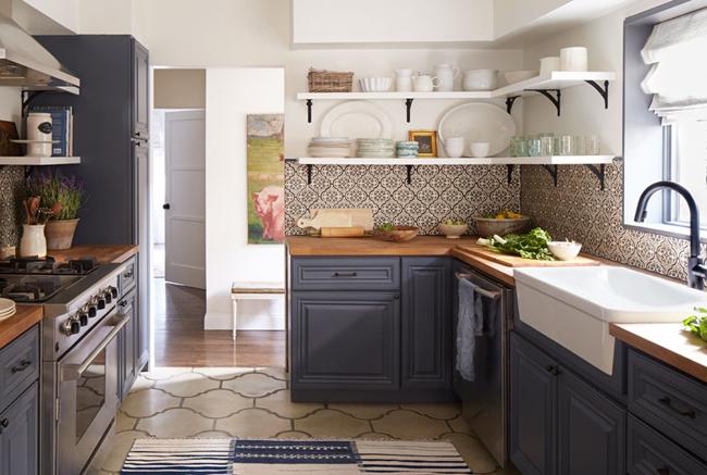 кухня в стиле бунгало фото