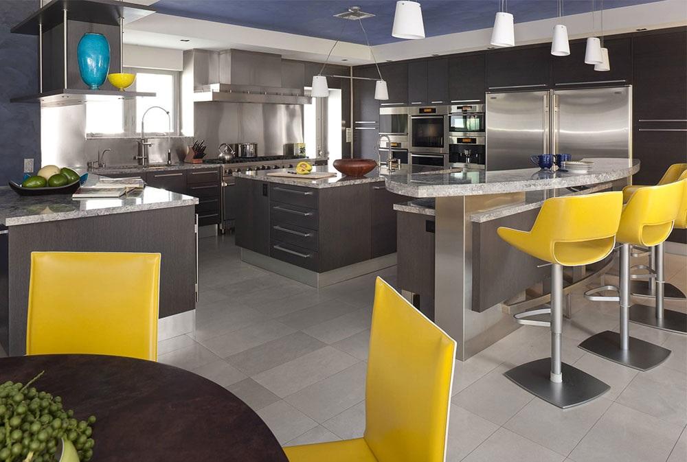желтые стулья для кухни