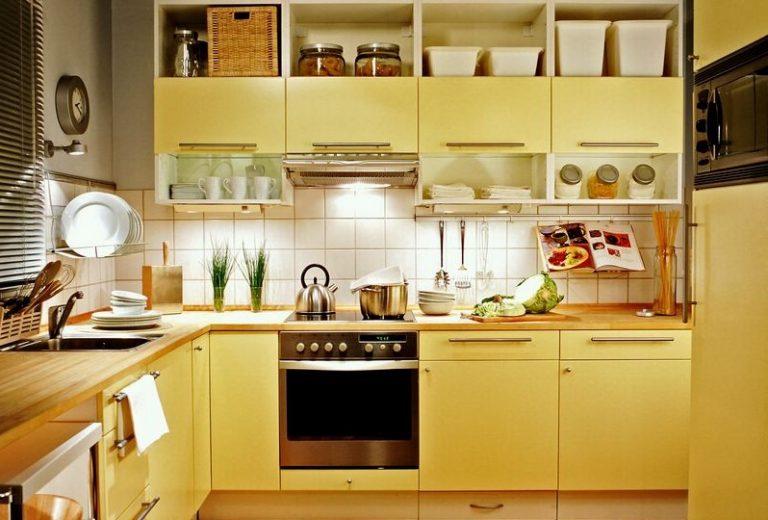 жовта кухня в інтер'єрі