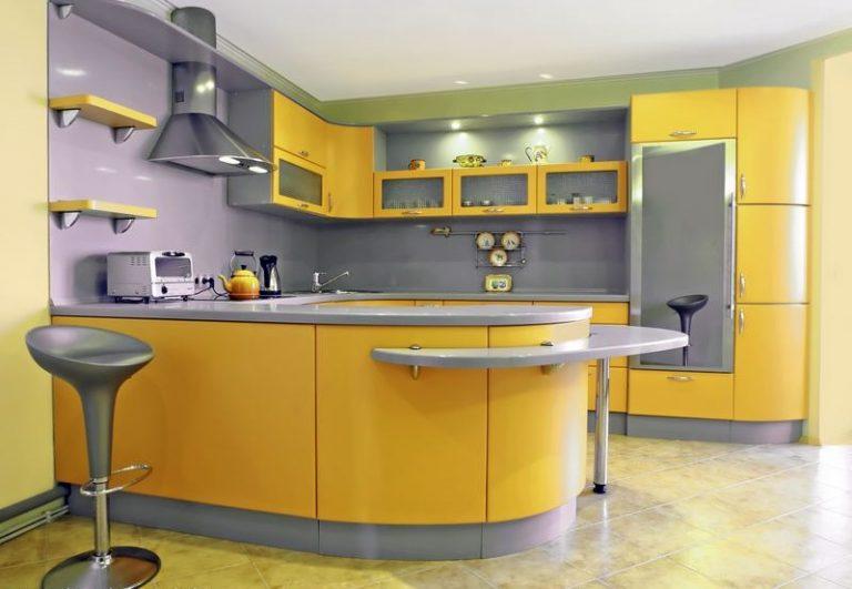 сіро жовта кухня фото