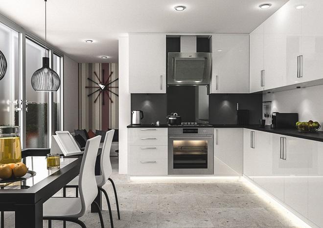 черно белые кухни дизайн фото